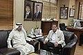 عزيز الديحاني السفير الكويتي في الأردن مع رئيس تحرير الدستور مصطفى الريالات 05.jpg