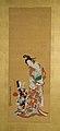 白拍子・遊女図-Shirabyōshi Dancer and Female Servant; Courtesan and Girl Attendant MET 2015 300 116 O2 Burke.jpg