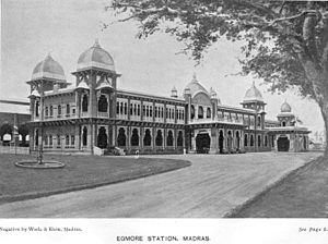 Pulney Andy - The Chennai Egmore Railway station in 1913, was built on land purchased from Andy Pulney.