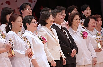 International Nurses Day - President Tsai Ing-wen, with the Minister of Health and Welfare, attends International Nurses Day celebration