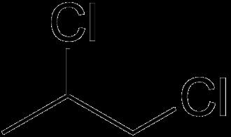1,2-Dichloropropane - Image: 1,2 dichloropropane skeletal
