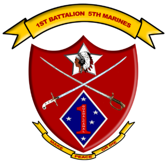 1st Battalion, 5th Marines - 1st Battalion, 5th Marines insignia
