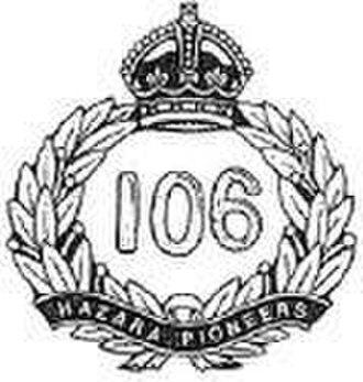 106th Hazara Pioneers - Image: 106thhazarapioneers