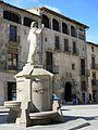 118 Font del Sagrat Cor, a la plaça Major (Centelles), al fons Can Sors.jpg