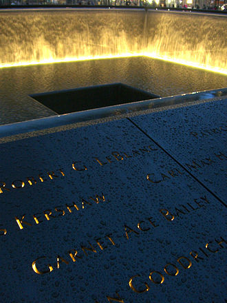Garnet Bailey - Bailey's name is located on Panel S-3 of the National September 11 Memorial's South Pool, along with those of other passengers of Flight 175