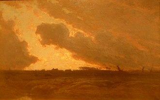 """Yan' Dargent - Yan' Dargent's """"Soir en Plounéventer"""". Now in Vannes'  Musée des beaux-arts"""