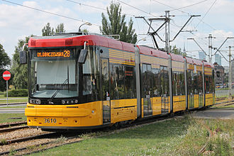 Trams in Warsaw - Low-floor tram Pesa Jazz