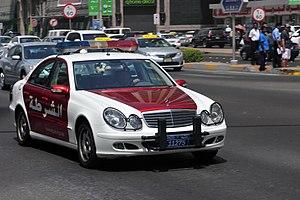Bullbar - Bullbars of a police car in Abu Dhabi