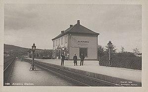 Loenga–Alnabru Line - Alnabru Station in 1922