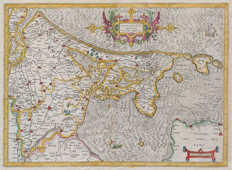 File:1606 Mercator Map of Holland ( Netherlands ) - Geographicus - Hollandt-mercator-1606.jpg