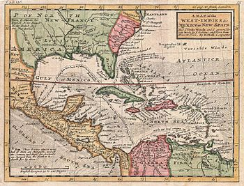 One of Moll's last works: Map of the West Indies and the Caribbean, 1732