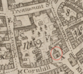 1743 1stChurch Boston map WilliamPrice.png