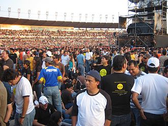 Soda Stereo - 27 October 2007 Alberto Spencer National Stadium in Guayaquil (Ecuador). The public awaits the return of Soda Stereo.