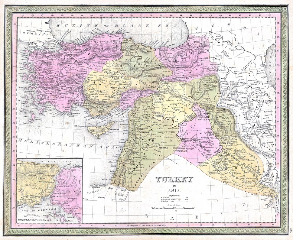 1849 Mitchell Map of Turkey ( Iraq, Syria, Palestine ) - Geographicus - TurkeyAsia-m-1849