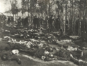 Hamidian massacres - A photograph taken in November 1895 by William Sachtleben of Armenians killed in Erzerum