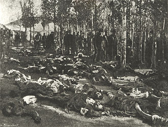Armenian Genocide - Corpses of massacred Armenians in Erzurum in 1895.