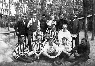 Football at the 1900 Summer Olympics - The Belgian team selected by the Universités of Brussels