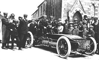 Winton Motor Carriage Company - 1903 Gordon Bennett Trophy. Athy, Ireland. Alexander Winton in the Winton Bullet 2