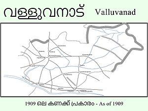 Valluvanad (southern Malabar) - Image: 1909 Map of Malabar