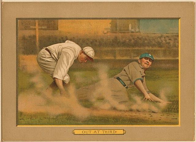 1911 out at third baseball card