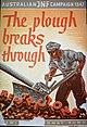 1947 POSTER FROM THE JEWISH NATIONAL FUND AUSTRALIA CAMPAIGN. כרזה אוסטרלית של הקרן הקימת לישראל משנת 1947, הקוראת לפריצת דרך בארץ ישראל.D247-022.jpg