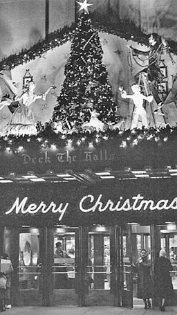 1966 - Hess Brothers Department Store - Christmas - Deck The Halls Enterance - Allentown PA