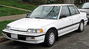 Honda Civic (fourth generation) - Image: 1988 1991 Honda Civic sedan 03 21 2012