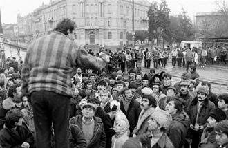 Romanian Revolution - Demonstration in Timișoara
