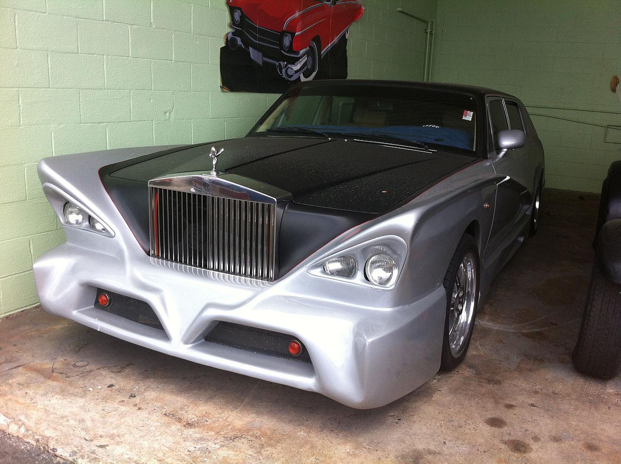 File1991 Rolls Royce Silver Black Custom Job F