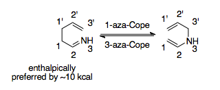 1 and 3 aza cope rearrangements.tiff