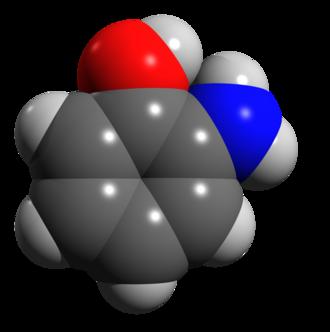 2-Aminophenol - Image: 2 aminophenol space filling