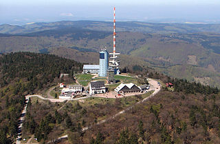 Großer Inselsberg mountain in Thuringia, Germany