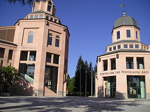Mountain View, California - City Hall and the Center for the Performing Arts in the Downtown area