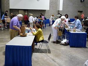 "Antiques Roadshow (U.S. TV series) - Before people enter the main appraisal/recording area, general appraisers quickly categorize and give tickets to specific appraisers (e.g. ""Asian Art"", ""Metal Work"", etc.)."