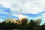 2009 Falcon 1 launches from Omelek Island 02.jpg