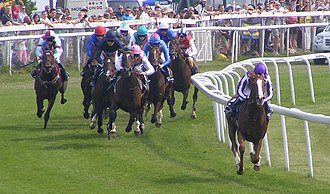 2010 Epsom Derby - The race is led by pacemaker At First Sight.