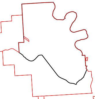 Medicine Hat (provincial electoral district) - Image: 2010 Medicine Hat electoral districts
