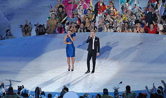 Nelly Furtado and Bryan Adams on centre stage. 2010 Opening Ceremonies - Nelly Furtado and Bryan Adams cropped.jpg