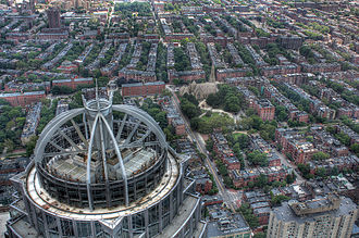South End, Boston - Aerial view of the South End