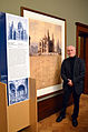 2014-01-26 Wanderausstellung SYNAGOGE UND TEMPEL (Bet Tfila) Villa Seligmann Hannover, 69 Prof. Harmen Hinrik Thies (Bet Tfila), Repro-Archivalien Edwin Oppler Nachlass Neue Synagoge, Stadtarchiv Hannover.jpg