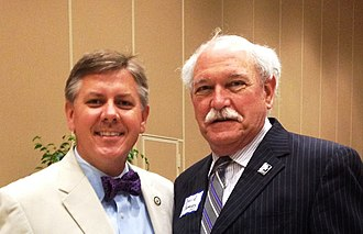 Chris Broadwater - Louisiana Representative (House District 86) Chris Broadwater (left) on June 4, 2014, with Tangipahoa Parish Board of Election Supervisors member David Ramsey at a reception for legislators hosted by the Hammond Chamber of Commerce in Southeastern Louisiana University's War Memorial Student Union.