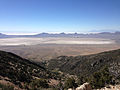 2014-06-29 10 27 36 View down Miner's Canyon towards the Great Salt Lake Desert from about 8100 feet on the southeastern flank of Pilot Peak, Nevada.JPG