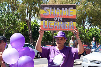 Uganda Anti-Homosexuality Act, 2014 - Cape Town Pride 2014 participants protested in support of LGBT rights in Uganda.
