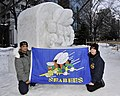 2014 Navy Misawa Snow Team completes 'Fighting Bee' snow sculpture 140203-N-ZI955-302.jpg