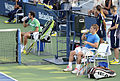 2014 US Open (Tennis) - Qualifying Rounds - James Ward and Vincent Millot (14849339408).jpg