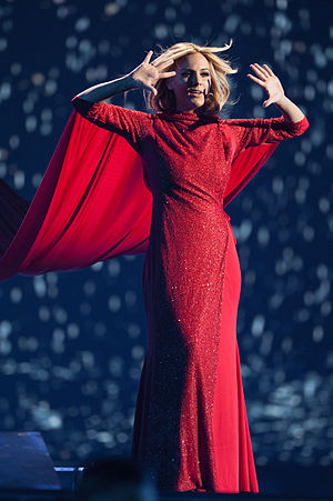 Spain in the Eurovision Song Contest 2015 - Edurne at a dress rehearsal for the final