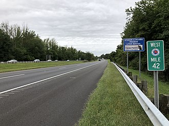 Gloucester Township, New Jersey - The westbound Atlantic City Expressway in Gloucester Township
