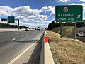 2018-10-24 11 57 47 View east along Virginia State Route 267 (Dulles Toll Road) at Exit 10 (Virginia State Route 657, Herndon, Chantilly) in McNair, Fairfax County, Virginia.jpg