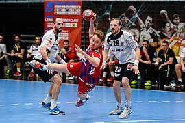 20180330 OEHB Cup Semi Finals - HBA Fivers Margareten vs. Alpla Hard - Maximilian Nicolussi 850 5575.jpg