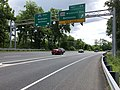 2019-05-27 12 28 46 View east along the inner loop of the Capital Beltway (Interstate 495) at Exit 34 (Maryland State Route 355-Wisconsin Avenue, Bethesda) on the edge of Bethesda and North Bethesda in Montgomery County, Maryland.jpg